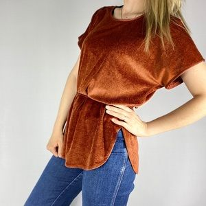 Vintage copper bathing suit coverup or tunic top